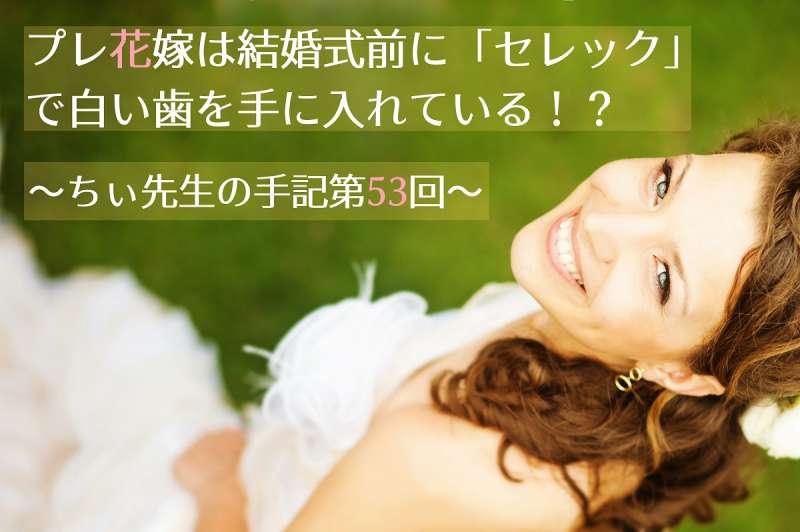 プレ花嫁は結婚式前にセレックで白い歯を手に入れているちぃ先生の手記第53回