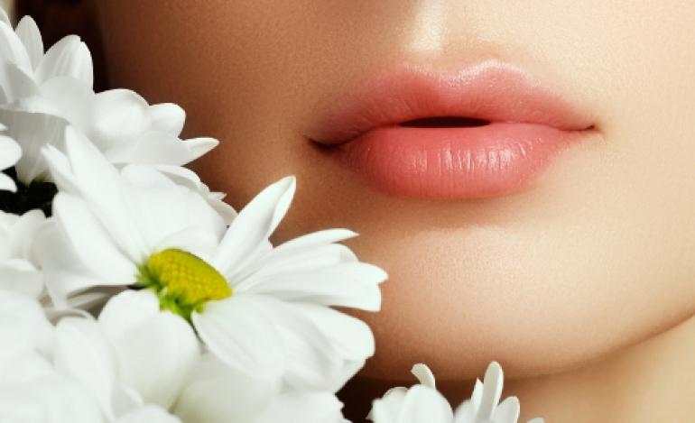 白い花と唇
