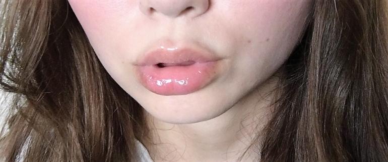 使用後の唇