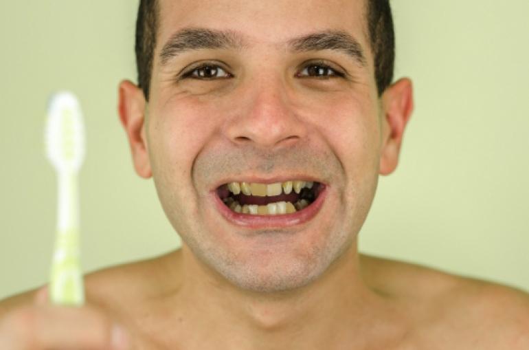 歯ブラシとおじさん